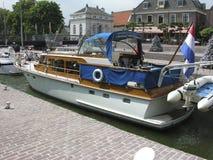 Boat entering the muiden locks. Locks in Muiden Holland Royalty Free Stock Image