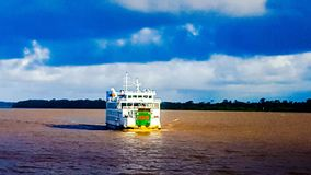 Boat on Essequibo River royalty free stock images