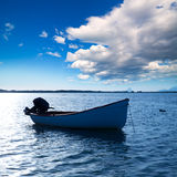 Boat in Estany des Peix at Formentera Balearic Islands Stock Images