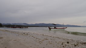 Boat and evening sea. In Thailand stock footage