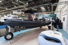 Boat exhibition 2015 in Duesseldorf, Germany Stock Photos