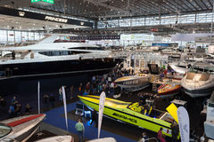 Boat exhibition 2015 in Duesseldorf, Germany Stock Photography