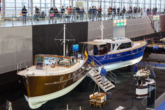 Boat exhibition 2015 in Duesseldorf, Germany Royalty Free Stock Image