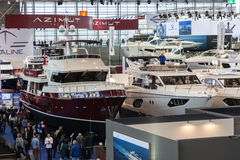 Boat exhibition 2015 in Duesseldorf, Germany Royalty Free Stock Images