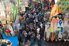 Boat exhibition 2015 in Duesseldorf, Germany Stock Photo