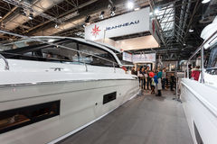 Boat exhibition 2015 in Duesseldorf, Germany Royalty Free Stock Photos