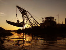 Boat extraction Stock Photography
