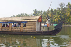Boat at famous backwaters of Kerala Royalty Free Stock Images