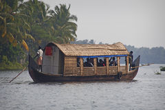 Boat at famous backwaters of Kerala Royalty Free Stock Photo