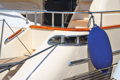 Boat fender on a luxury yacht in Porto Cervo Stock Photography