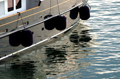 Boat with fenders Royalty Free Stock Images