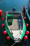 Boat with fenders Royalty Free Stock Image