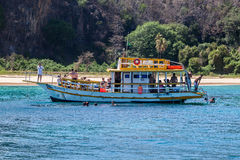 Boat in Fernando de Noronha Island Stock Photos