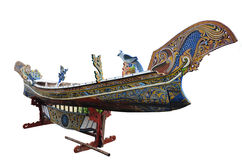 Boat figure Thai Style name is Koleh art in thailand Royalty Free Stock Photography