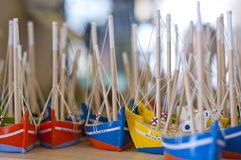 Boat figurines Stock Photos