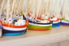 Boat figurines royalty free stock image