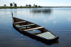 Boat filled of the water Royalty Free Stock Images