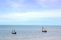 Boat of fisherman Stock Images