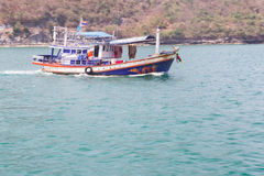 Boat. Fisherman boat on sea in Thailand Stock Images