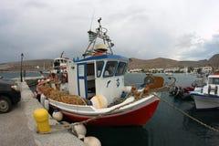 Boat fishermen. Fishermen from island of Folegandros 2015 Stock Images