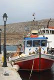 Boat fishermen. Fishermen from island of Folegandros 2015 Stock Photos