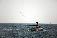 boat fishing 库存图片