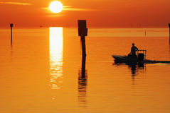 Boat Fishing Inshore Florida Royalty Free Stock Photo