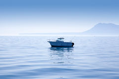 Boat fishing in Mediterranean Denia with Mongo Royalty Free Stock Photos