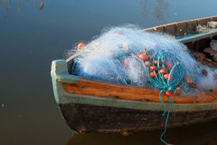 Boat with fishing nets Stock Photography