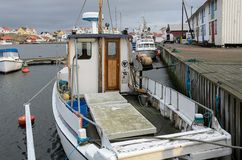 Boat in the fishing port Stock Images