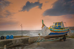 Boat at the fishing port Stock Images