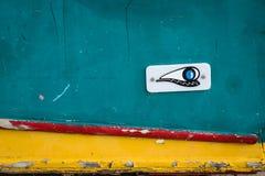 Boat at the fishing port. Near Marsaskala on the Malta island Stock Photo
