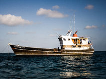 Boat. Fishing boat in tropical sea Royalty Free Stock Photos