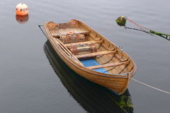 Boat on the fjord in Norway Stock Photography