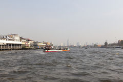 Boat floating in Chaophraya river. Royalty Free Stock Photography