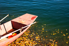 A boat. Is floating in a lake Royalty Free Stock Image
