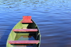 Boat. Floating in the river royalty free stock photos