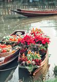 Boat and flower Stock Image