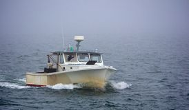 Boat in Fog Royalty Free Stock Image