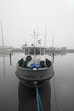 Boat in a fog Royalty Free Stock Photography