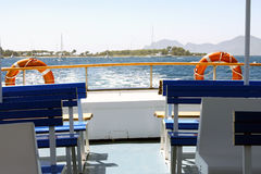 On the boat. On a boat in the french riviera in Cannes Stock Photography