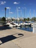 The summer at the. Sail boats lake Royalty Free Stock Images