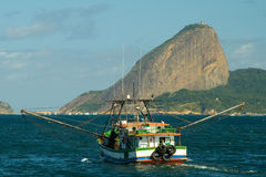Sugarloaf mountain in Rio de Janeiro Stock Images