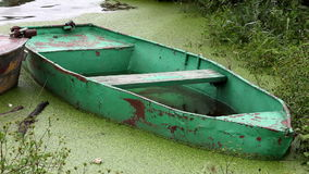 Boat Full of Water stock footage