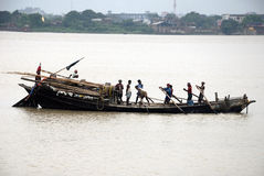 Boat on the Ganga river Stock Image