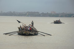 Boat on the Ganga river Stock Images