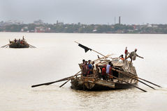 Boat on the Ganga river Royalty Free Stock Image