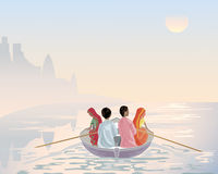 Boat on the ganges Stock Image
