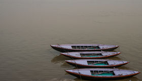 Boat on Ganges in Varanasi Royalty Free Stock Images