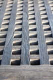 Boat gangway close up. Boat gangway made with wood squares  close up Royalty Free Stock Photo